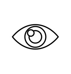 Human eye vision optical look design outline vector
