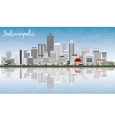 Indianapolis Skyline with Gray Buildings vector