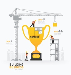 Infographic business trophies shape template desig vector