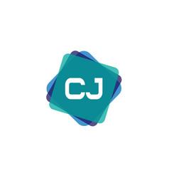 Initial letter cj logo template design vector