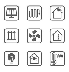 intelligent house line icons set smart house vector image