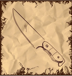 Knife icon on vintage background vector image