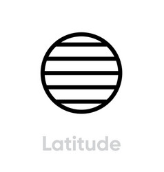 Latitude from east to west parallels icon vector