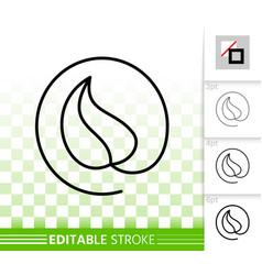Leaf simple black line icon vector
