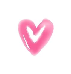 Light hand drawn heart symbol vector