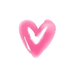 Light hand drawn heart symbol vector image