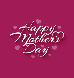 mothers day vintage lettering on pink background vector image
