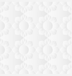 Neutral white floral texture vector
