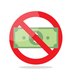 No money sign vector