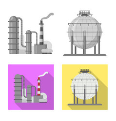 Oil and gas logo set of vector