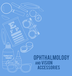 optics and visual acuity vector image