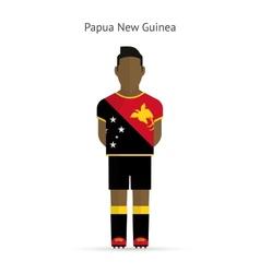 Papua New Guinea football player Soccer uniform vector image