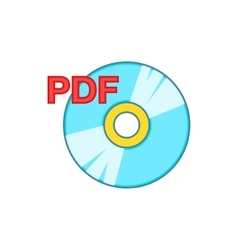 PDF book icon cartoon style vector