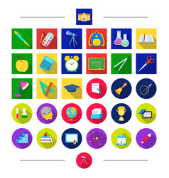pencils education attributes and other web icon vector image vector image