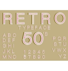 retro typeface font in vintage style perfect for vector image