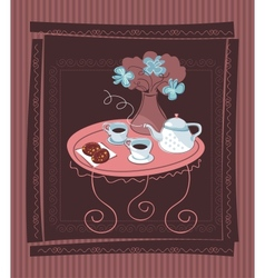 Romantic table background vector