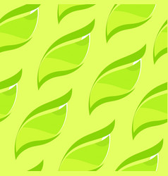 seamless background with leaves tea bush fresh vector image
