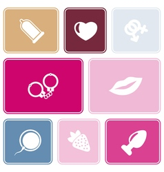 Seamless background with sex symbols vector