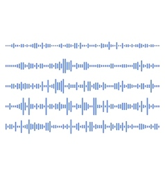 Set audio line eps 10 vector image