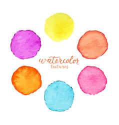 Set of colorful watercolor circles vector