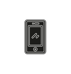 simple mobile icon vector image