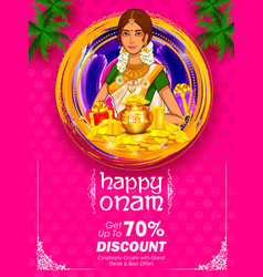 south indian keralite woman on advertisement and vector image