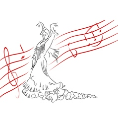Spanish dance vector image