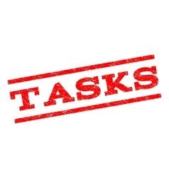 Tasks watermark stamp vector