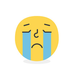 trendy crying emoji smile eps10 vector image