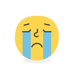 Trendy crying emoji smile eps10 vector