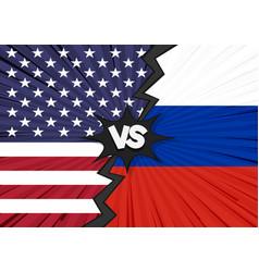 usa versus russia flag vector image