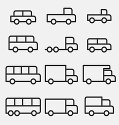 Vehicle car icons vector image