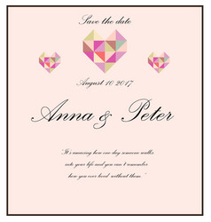 wedding invitation with poem vector image