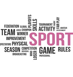 Word cloud sport vector