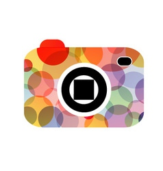 Abstract digital camera logo vector image vector image
