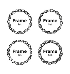 Beautiful and Gentle Minimalist Round Frames Set vector image