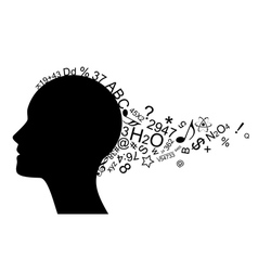 head with information vector image