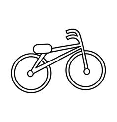 retro bicycle style icon vector image
