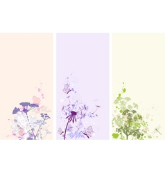 vertical floral banners vector image