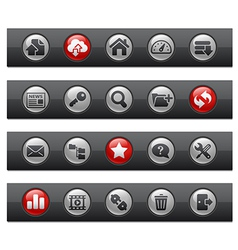 Hosting Buttons vector image vector image