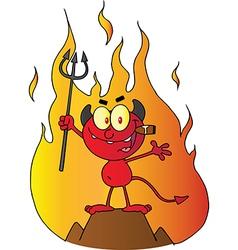 Little Red Devil vector image vector image