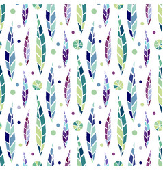 modern seamless stylized leaf pattern bright vector image vector image