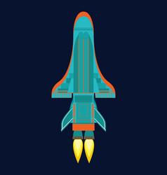 technology ship rocket cartoon design for vector image