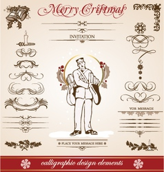 christmas and new year greetings vector image vector image