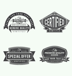 Collection of retro vintage style labels and banne vector