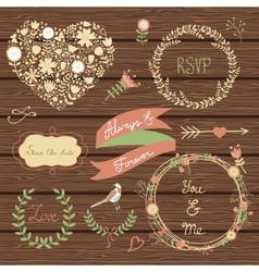 Elegant collection of graphic elements vector image vector image