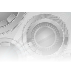 grey geometric technology background with circle vector image