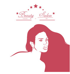 hair salon design with woman vector image