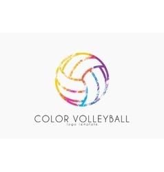Volleyball logo Volleyball ball logo design vector image