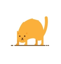 angry red cat vector image